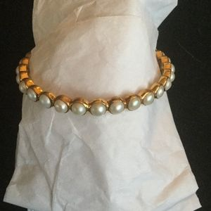 Julie Jewelry - Julie collection white pearl bangle